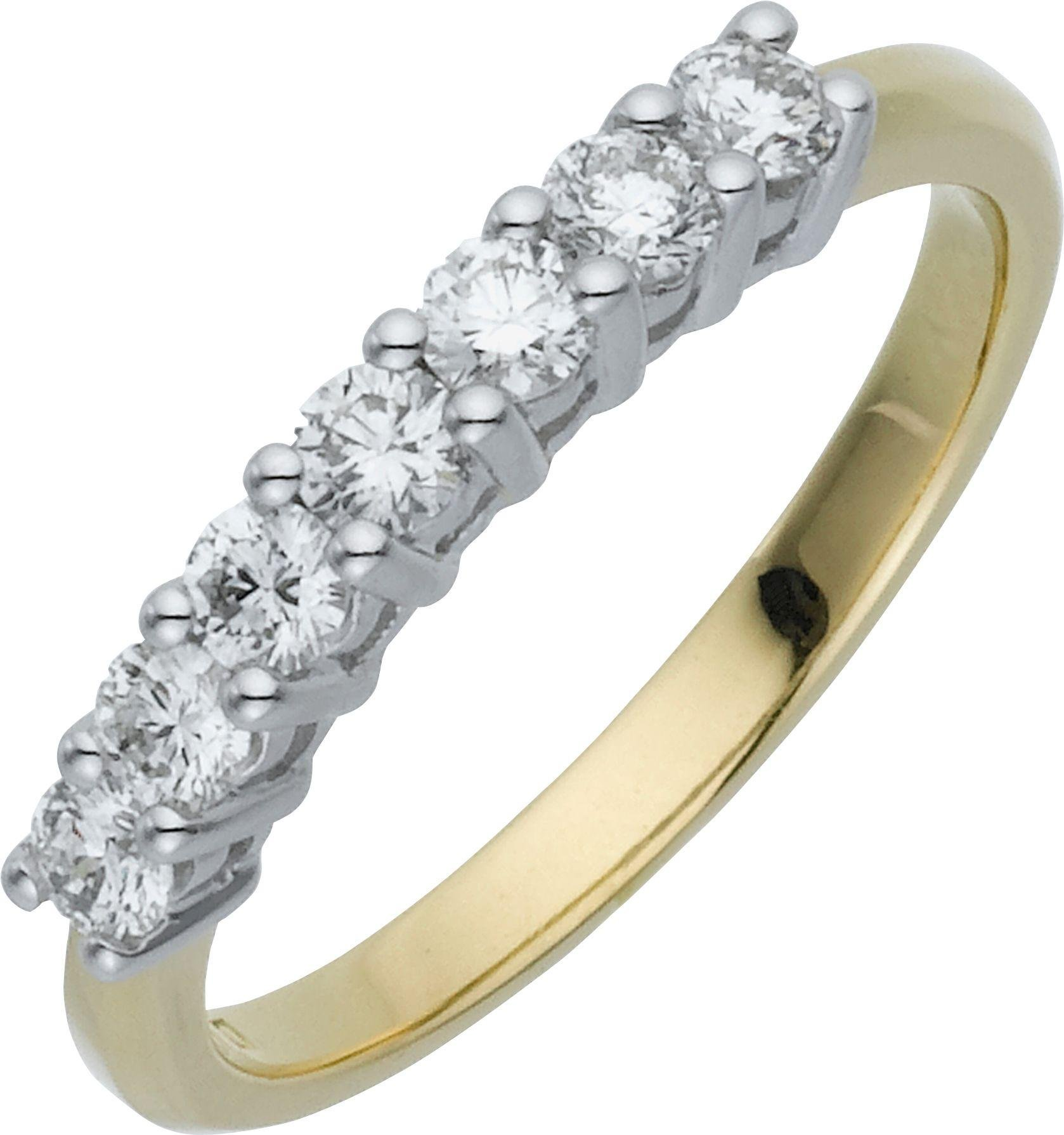 Image of Made For You - 9 Carat Gold - 7 Stone Eternity Ring - Size S