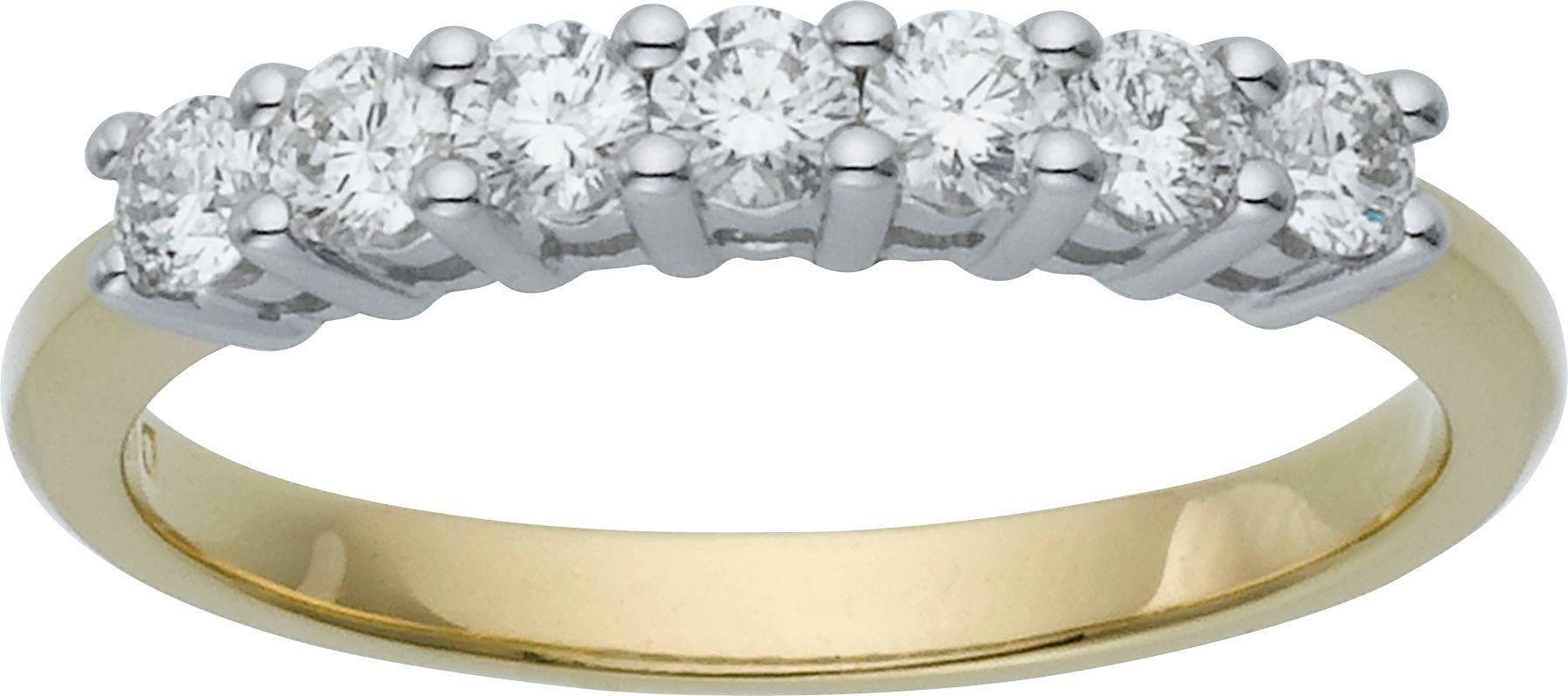 Buy Everlasting Love 9ct Gold 7 Stone Eternity Ring Size V at