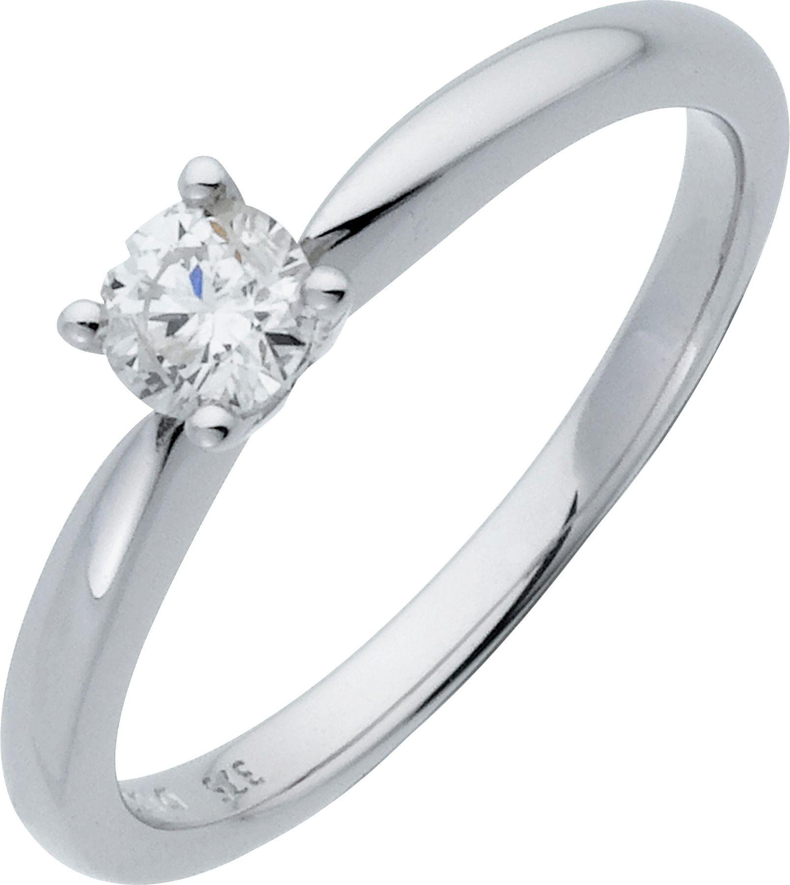 Made For You - 18 Carat White Gold 025 Carat Solitaire Ring - Size T