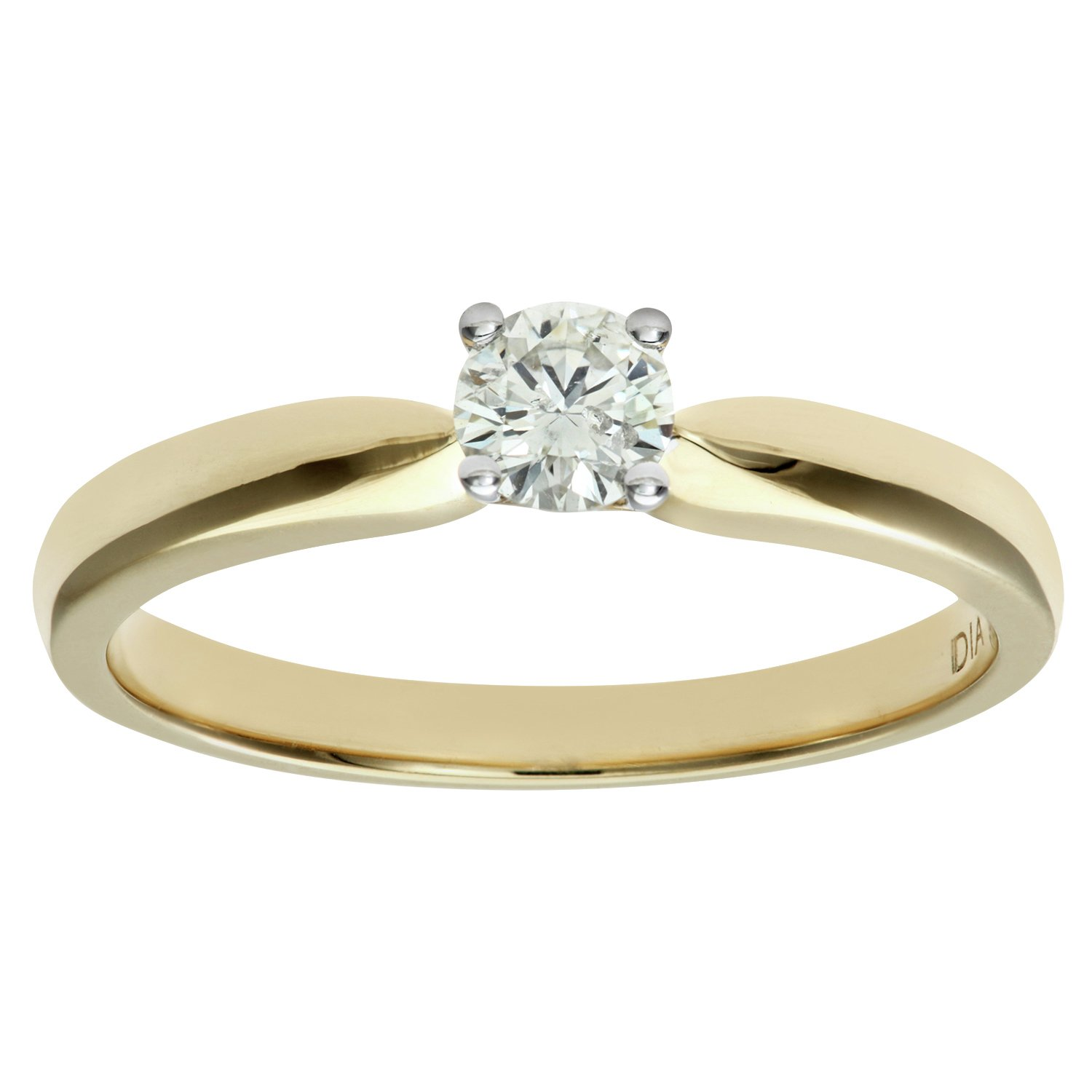 Made For You - 18 Carat 025 Carat Solitaire Ring - Size W