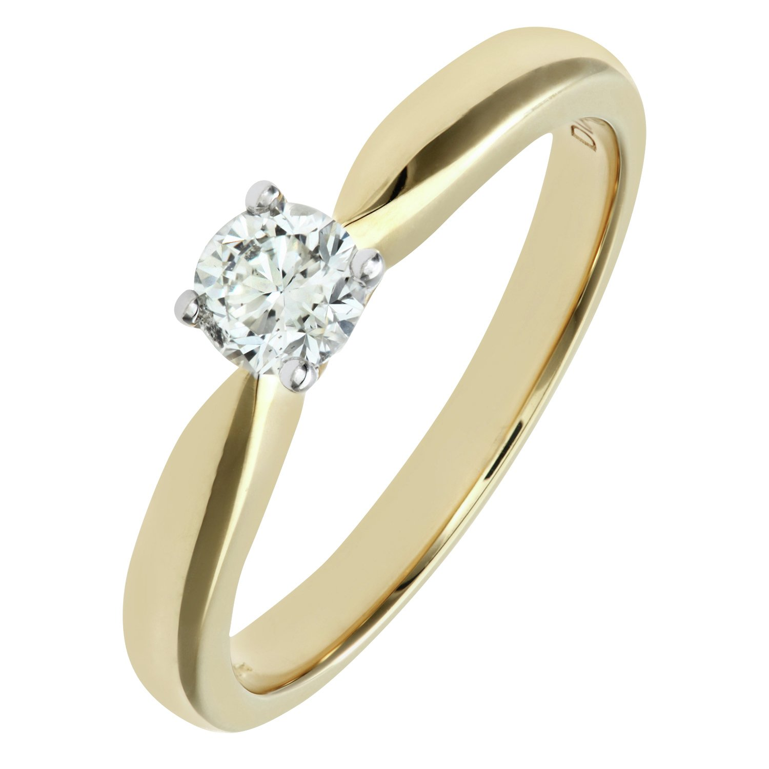 Everlasting Love Made For You - 18 Carat Gold - 033 Carat Solitaire Ring - Size W