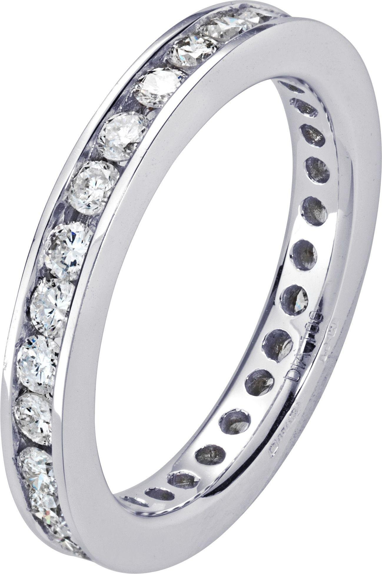 Image of Made For You - 18 Carat White Gold 1 Carat Diamond - Eternity Ring- U