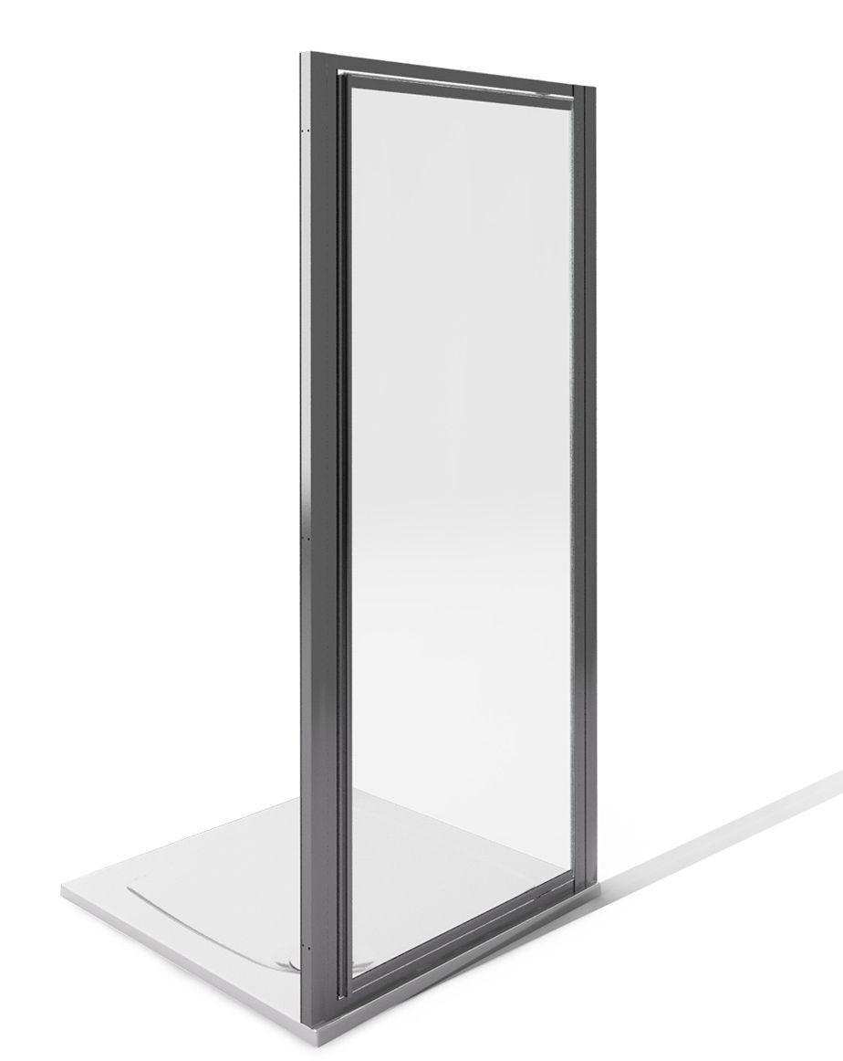 Image of AQUA 4 1850x900mm Pivot Door Fully Framed Screen - White