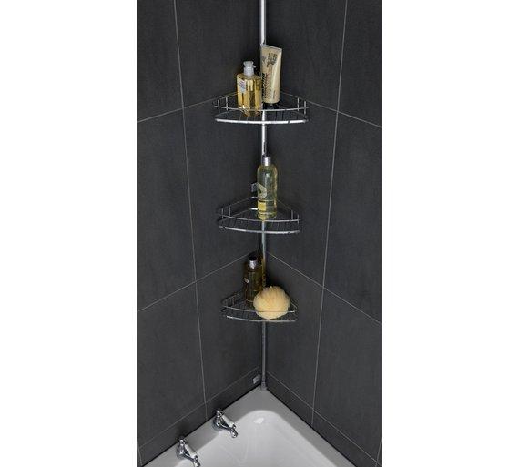 Buy Heart of House Chrome Shower Organiser Pole | Bathroom baskets ...