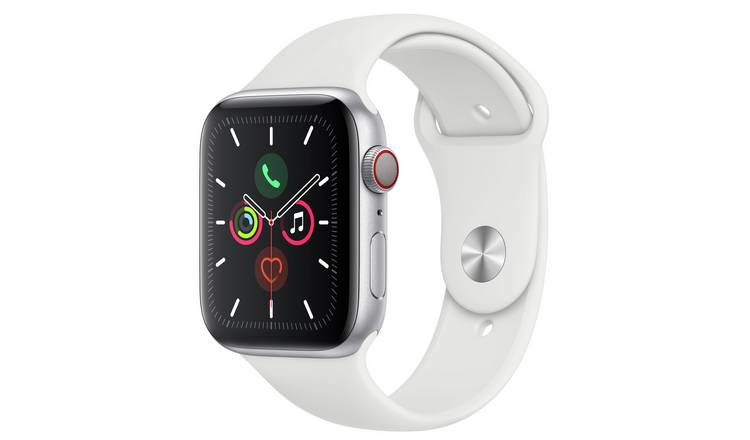 Apple Watch S5 Cellular 44mm Silver Alu/White Band