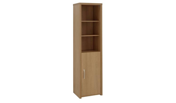 Habitat Venice 1 Door 5 Shelf Display Cabinet -Oak Effect