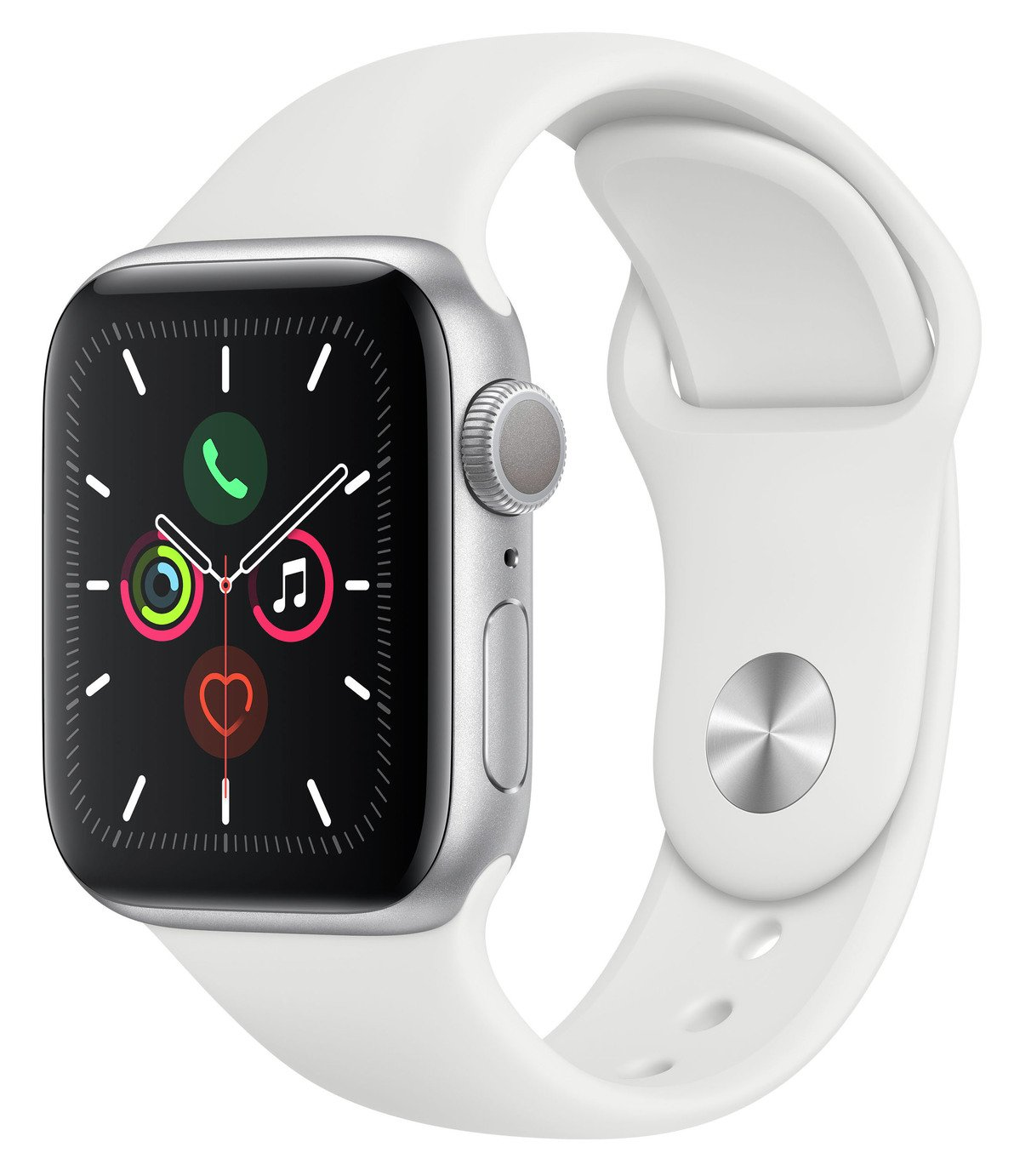 Apple Watch S5 GPS 40mm Silver Alu / White Band