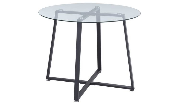 Argos Home Lazio Glass 4 Seater Dining Table