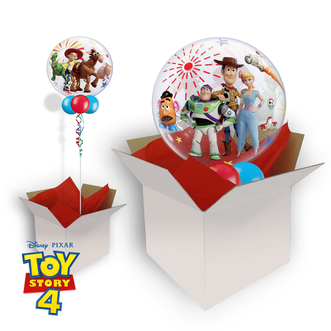 Disney Toy Story 4 22 Inch Bubble Balloon In A Box