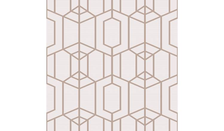 Superfresco Easy Albany Geo Blush Pink Wallpaper