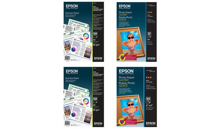Epson 4 Pack Mixed Paper Bundle