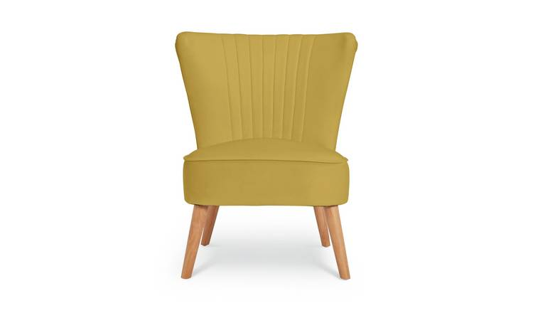 Argos Home Alana Velvet Shell Back Accent Chair - Yellow