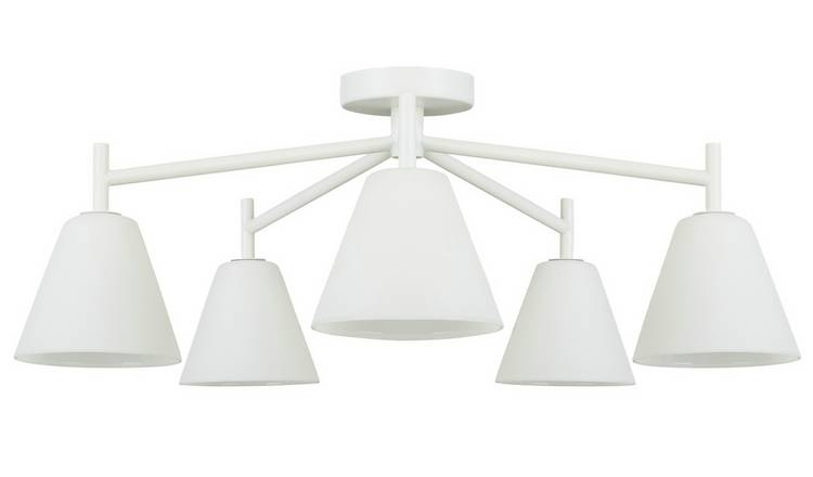 Habitat Hallam Large Flush Ceiling Light - White