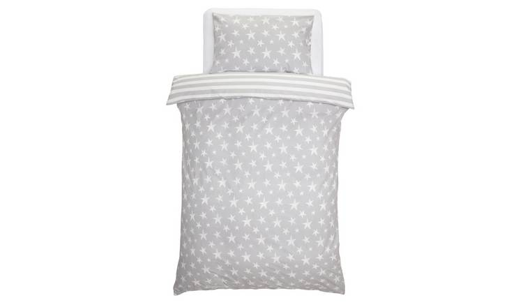 Argos Home Grey Star Bedding Set - Toddler