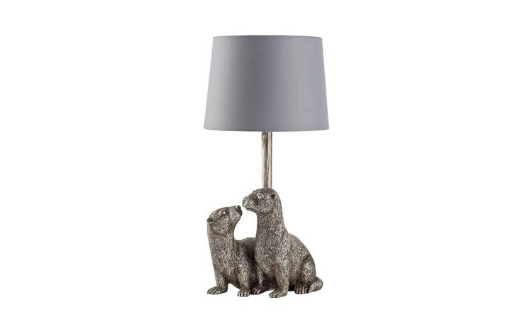 Argos Home Moorlands Otter Table Lamp - Chrome