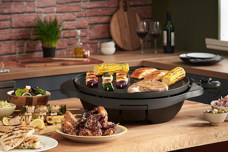 George Foreman Indoor and outdoor grills.