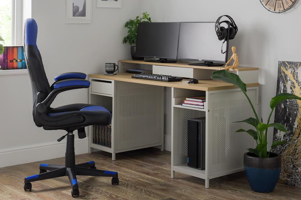 Desks with storage.