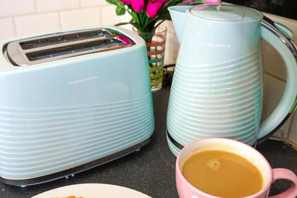 Morphy Richards Dune kettle collection.
