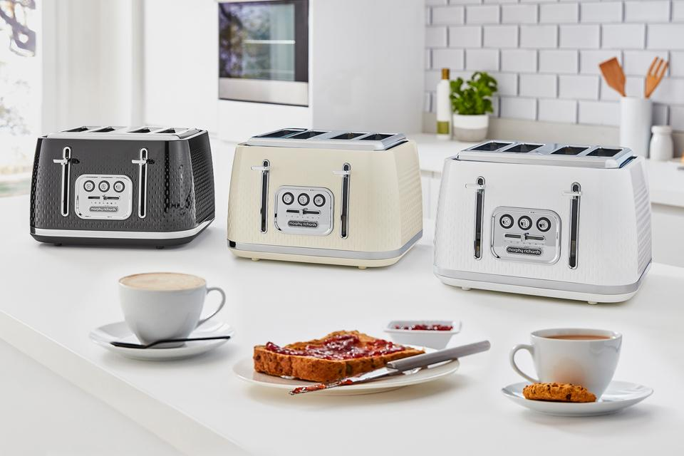Morphy Richards Verve toaster collection.