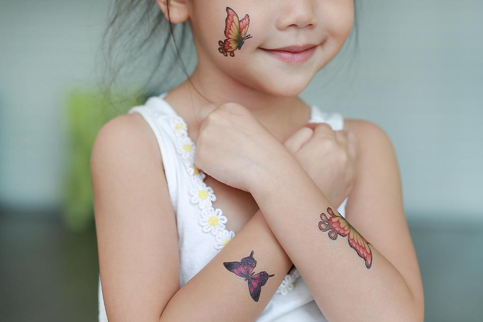 Kids' tattoos