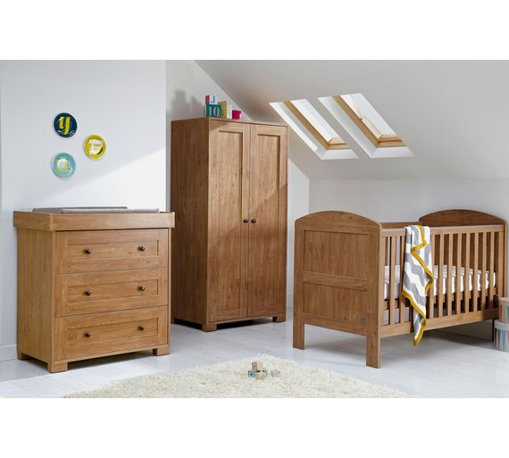 buy mamas papas harrow 3 piece nursery furniture set dark oak