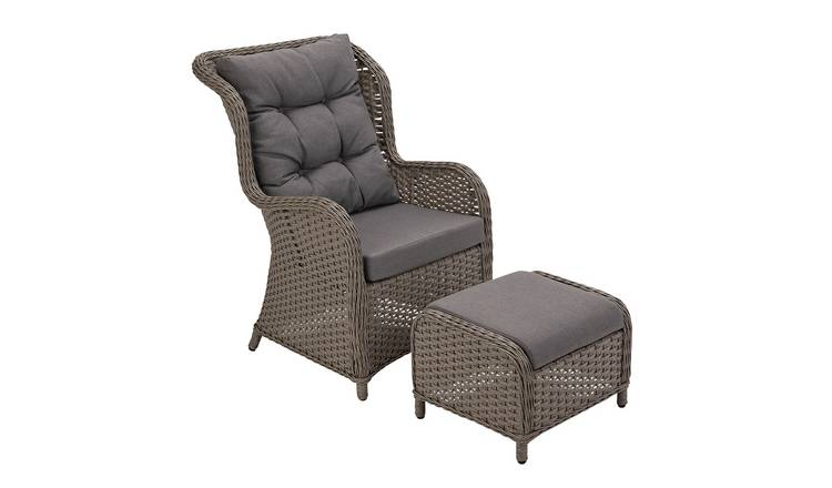 Argos Home Dave Garden Chair and Stool