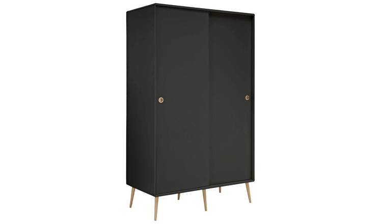 Softline 2 Door Sliding Wardrobe - Black
