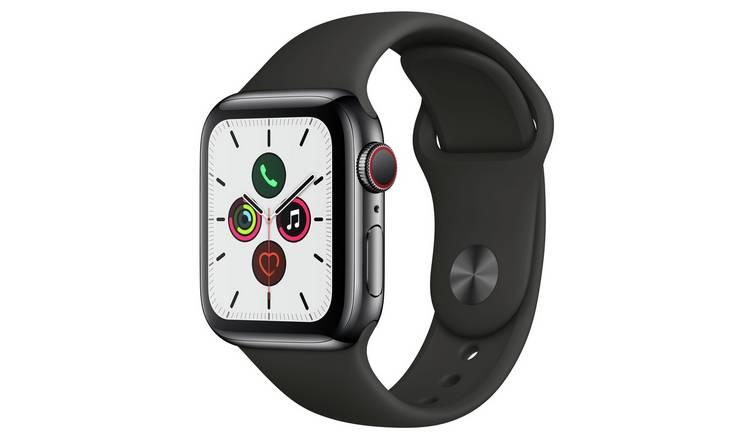 Apple Watch S5 Cellular 40mm Black S Steel / Black Band