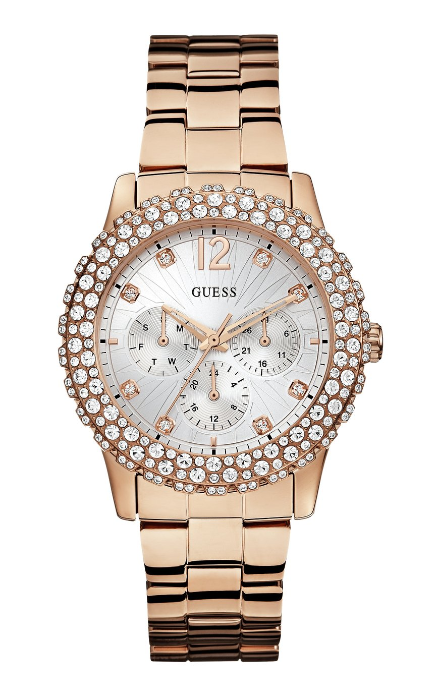 Guess Ladies Multi Dial Rose Gold Coloured Bracelet Watch