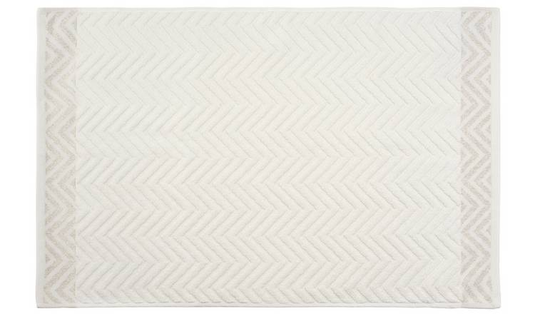 Argos Home Lurex Bath Mat - White