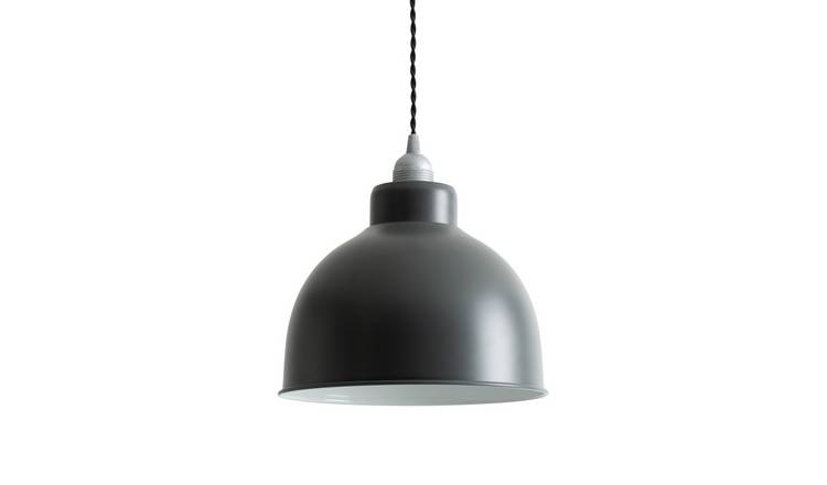 Argos Home Loft Living Small Spun Metal Shade - Pewter