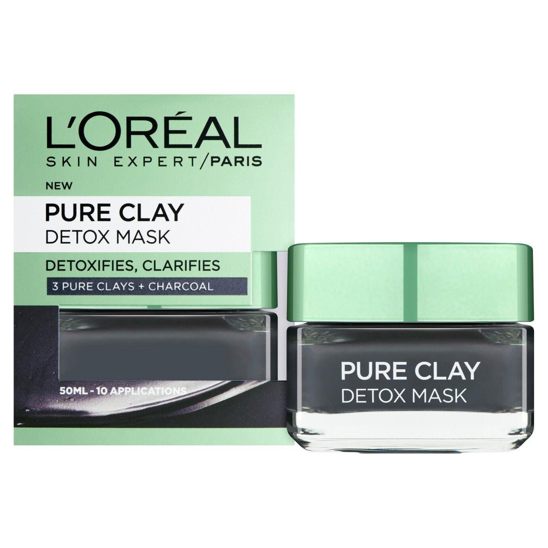 L'Oreal Pure Clay Black Detox Mask - 50ml