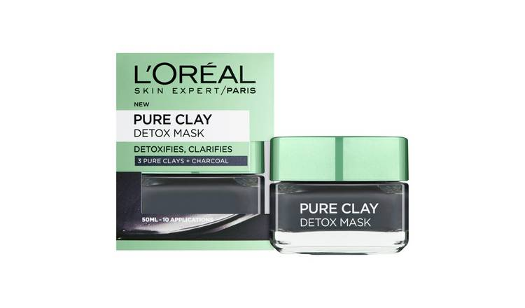 L'Oreal Pure Clay Black Detox Mask - 50ml