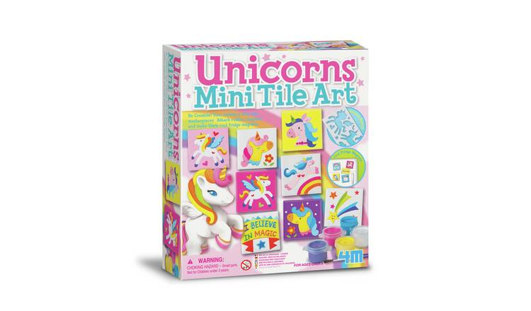 Mould and Paint Unicorn Tile Art Twin Pack
