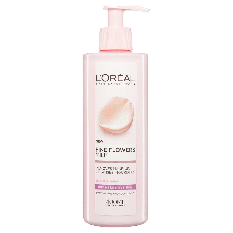 L'Oreal Paris Skin Fine Flower Cleansing Milk - 400ml