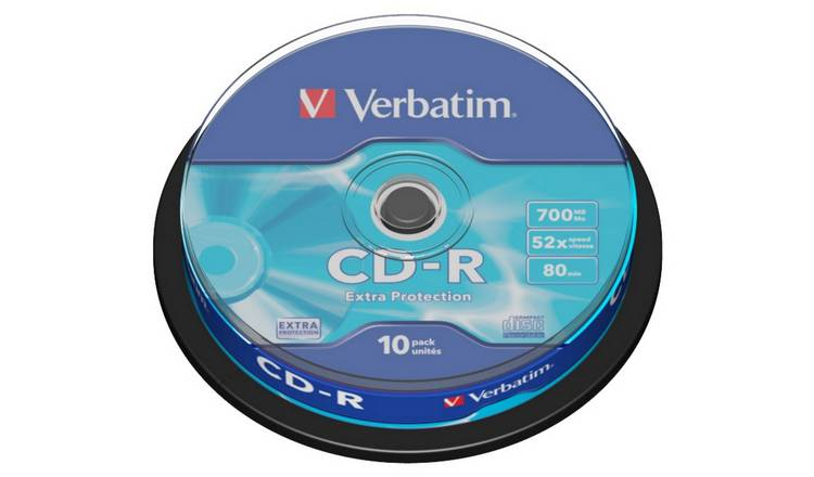 Verbatim CD-R 52x Speed - 10 Pack Spindle
