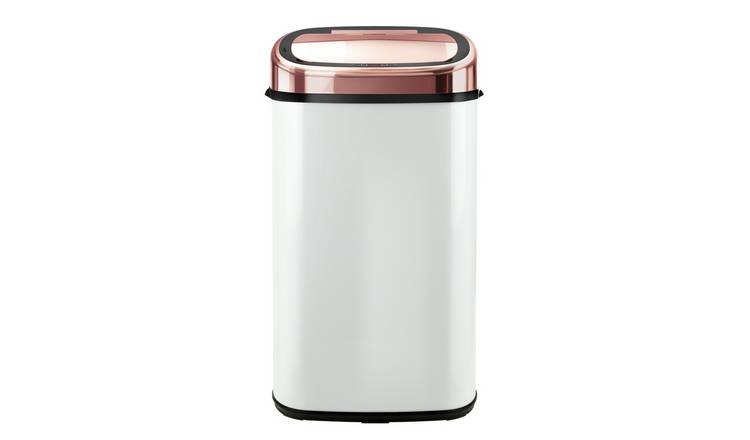 Buy Tower 58 Litre Sensor Bin Rose Gold And White Kitchen Bins Argos