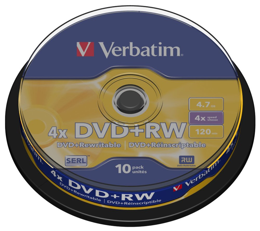 Verbatim DVD RW 4X Speed - 10 Pack Spindle