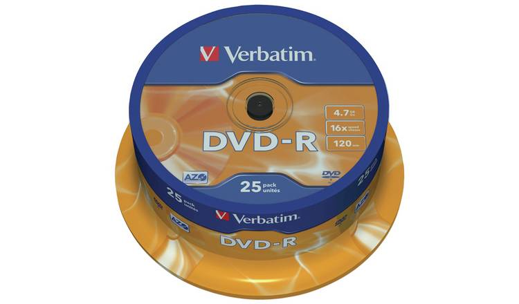 Verbatim DVD-R 16x Speed - 25 Pack Spindle