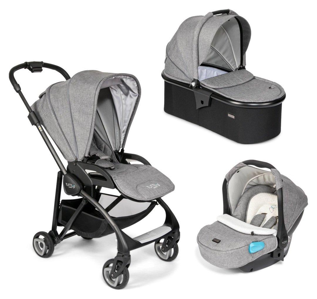Tutti Bambini Koji Black 3-in-1 Travel System - Charcoal