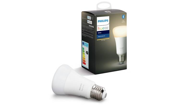 Philips Hue E27 White Smart Bulb with Bluetooth
