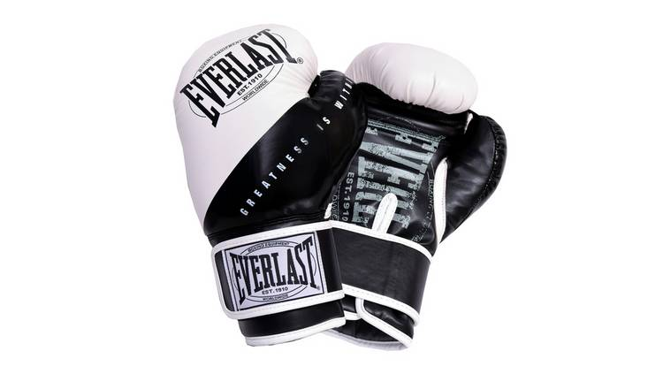 Everlast 8oz Junior Boxing Gloves - Black and White