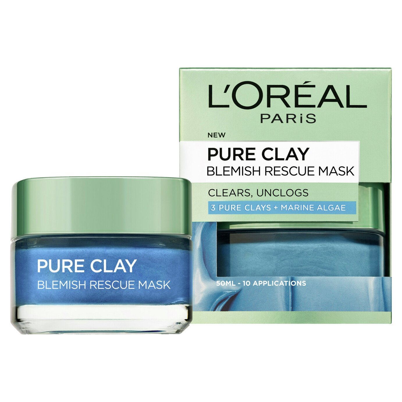 L'Oreal Pure Clay Blue Blemish Mask - 50ml