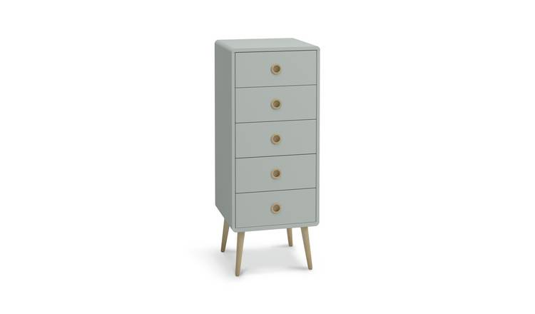 Argos Home Softline 5 Drawer Chest of Drawers - Grey