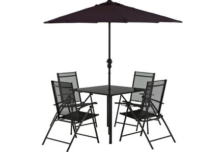 Image of the HOME Milan 4 Seater Patio Set.