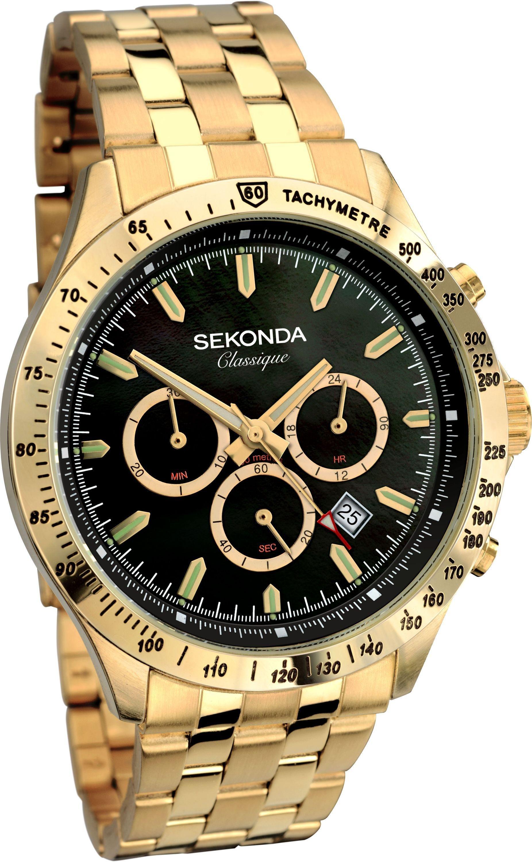 Sekonda Classique Men's Gold Plated Bracelet Watch