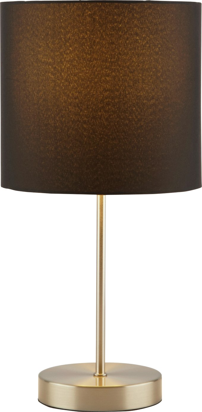 ColourMatch Satin Stick Lamp - Jet Black