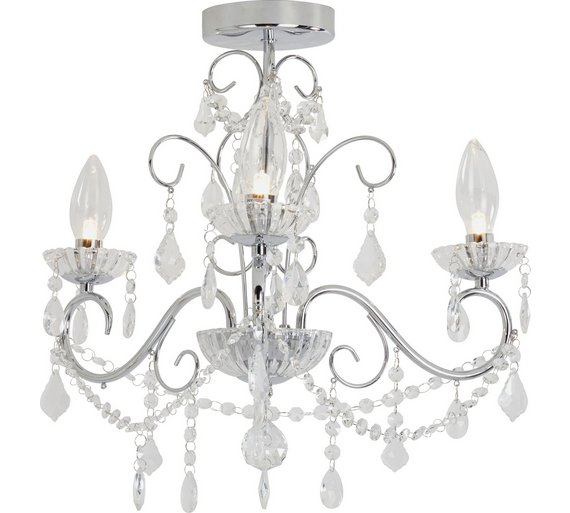 Buy argos home spetses 3 light bathroom chandelier chrome click to zoom aloadofball Image collections