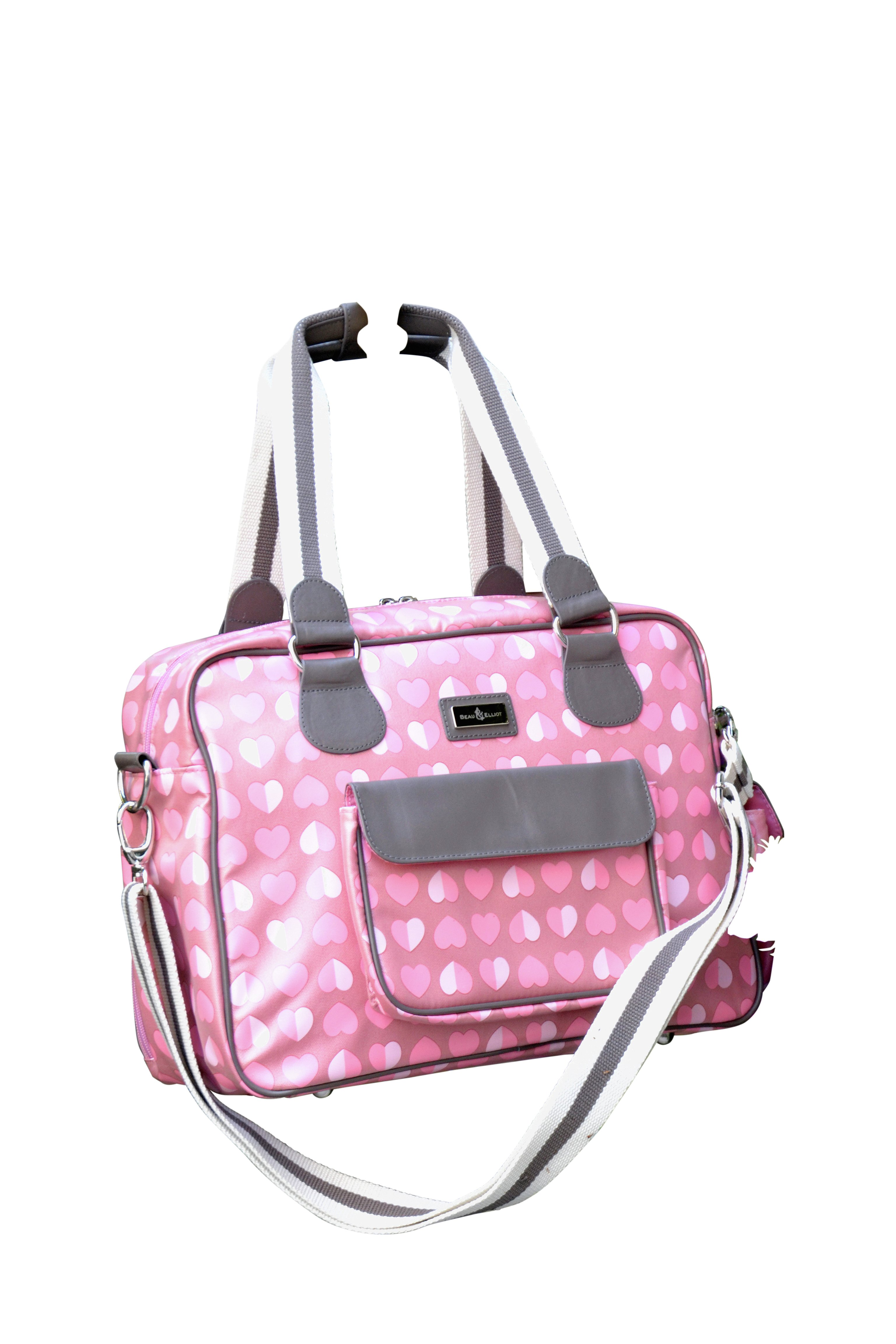 Beau and Elliot Confetti Baby Changing Bag - Pink