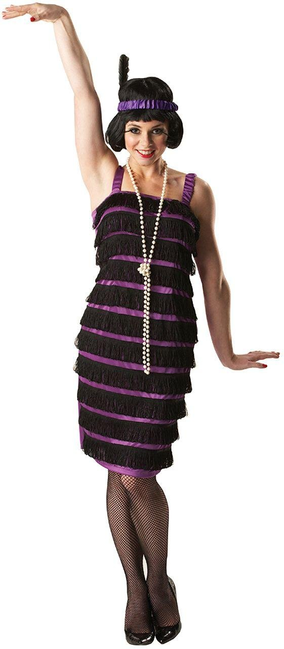 Image of 1920's Flapper Costume - Size 8-10.